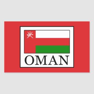 Oman Rectangular Sticker