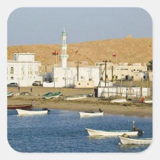 Omán, región de Sharqiya, Sur. Ciudad de Ayajh, Pegatina Cuadrada