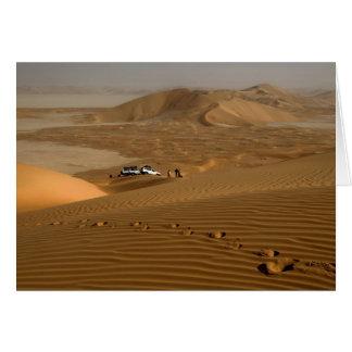 Oman, Rub Al Khali desert, driving on the dunes Card