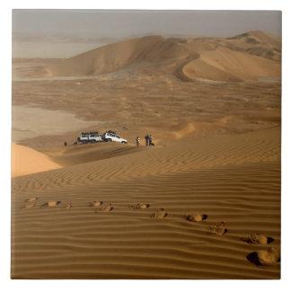 Oman, Rub Al Khali desert, driving on the dunes Ceramic Tile