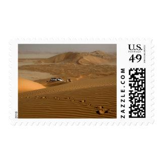 Oman, Rub Al Khali desert, driving on the dunes Stamp