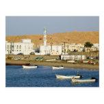 Oman, Sharqiya Region, Sur. Ayajh Town, Dusk Postcards