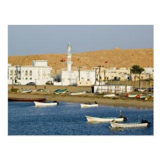 Oman, Sharqiya Region, Sur. Ayajh Town, Dusk Postcard
