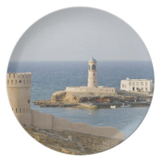 Oman, Sharqiya Region, Sur. Towers of Al Ayajh Plate