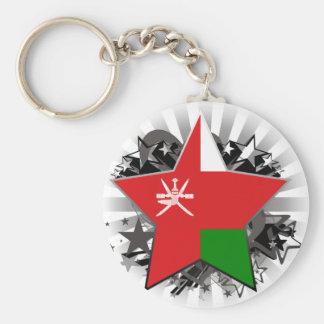 Oman Star Basic Round Button Keychain