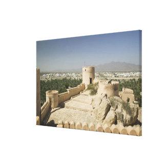 Oman, The Batinah Plain, Nakhal. Nakhal Fort, at Gallery Wrap Canvas