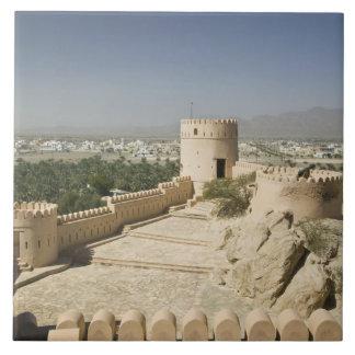 Oman, The Batinah Plain, Nakhal. Nakhal Fort, at Tile