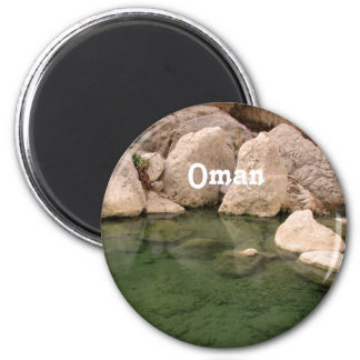 Oman Watering Hole 2 Inch Round Magnet