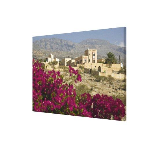 Oman, Western Hajar Mountains, Al Hamra. Town Canvas Print
