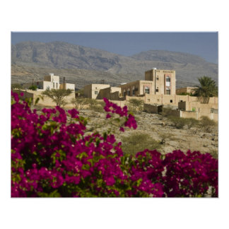 Oman, Western Hajar Mountains, Al Hamra. Town Poster
