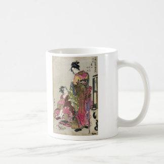 Omando – Ogie Oiyo and Takeji by Utamaro Coffee Mug