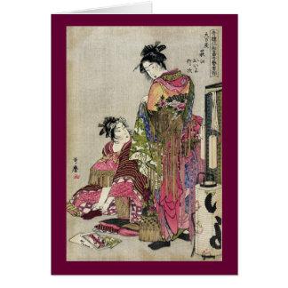 Omando - Ogie Oiyo y Takeji por Utamaro Felicitación