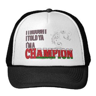 Omani and a Champion Mesh Hat