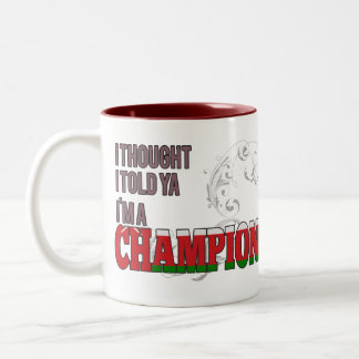 Omani and a Champion Coffee Mug