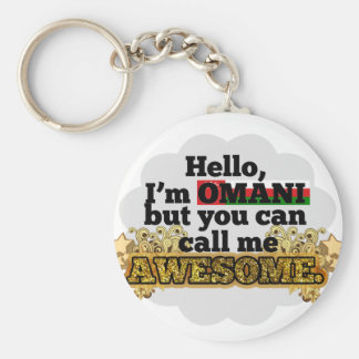 Omani, but call me Awesome Basic Round Button Keychain