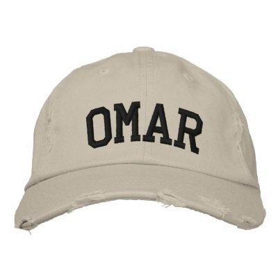 Omar bordó el gorra gorras bordadas