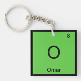 Omar Name Chemistry Element Periodic Table Keychain
