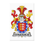 O'Mara Family Crest Stretched Canvas Print
