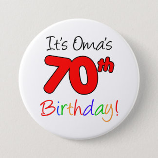 Oma's 70th Birthday Party German Grandma Button