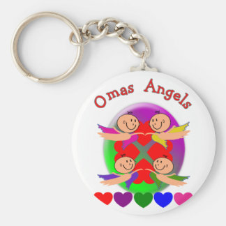 Omas Angels---Adorable Baby Angels Gifts Basic Round Button Keychain