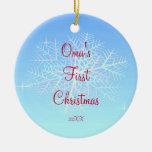 Oma's First  Christmas Snowflake Ornament
