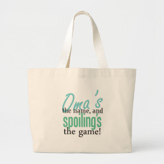 Oma's the Name, and Spoiling's the Game! Canvas Bags