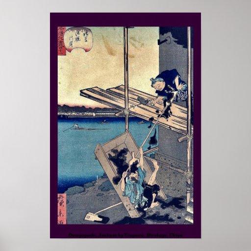 Omayagashi, Asakusa by Utagawa, Hirokage, Ukiyo Poster