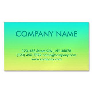 ombre amarillo limón de la verde lima de la moda tarjetas de visita magnéticas (paquete de 25)