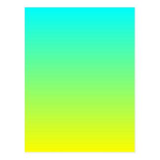 ombre amarillo limón lindo de la verde lima del postal