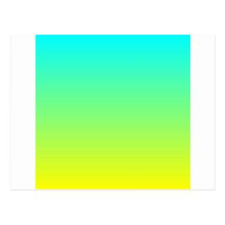 ombre amarillo limón lindo de la verde lima del tarjeta postal