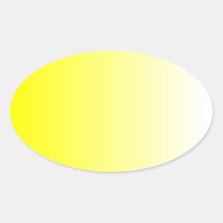 Ombre amarillo pegatina ovalada