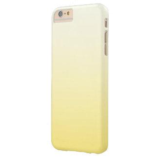 Ombre amarillo soleado en colores pastel lindo funda de iPhone 6 plus barely there