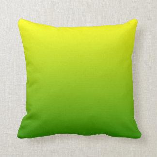 Ombre amarillo verde cojin