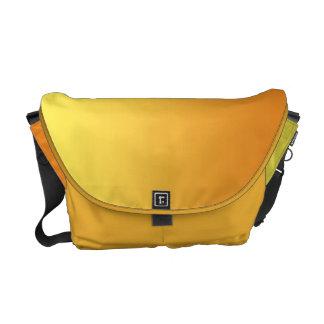 Ombre amarillo y anaranjado bolsas messenger