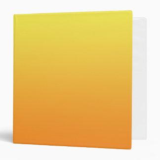 """Ombre amarillo y anaranjado carpeta 1 1/2"""""""