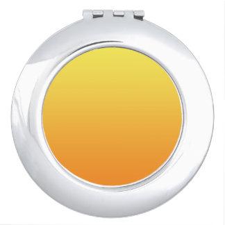 Ombre amarillo y anaranjado espejo de viaje