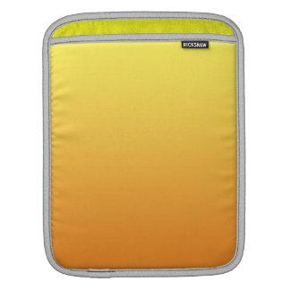 Ombre amarillo y anaranjado funda para iPads