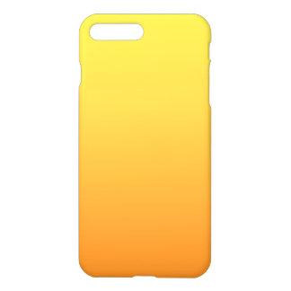 Ombre amarillo y anaranjado funda para iPhone 7 plus
