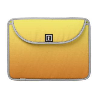 Ombre amarillo y anaranjado fundas macbook pro