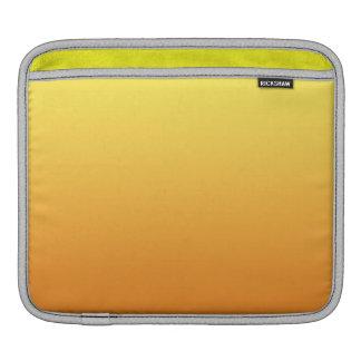 Ombre amarillo y anaranjado fundas para iPads