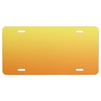 """""""Ombre amarillo y anaranjado"""" Placa De Matrícula"""