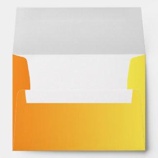 Ombre amarillo y anaranjado sobres