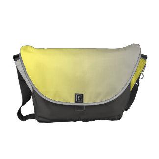 Ombre amarillo y gris bolsas de mensajería