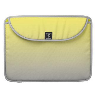 Ombre amarillo y gris fundas macbook pro