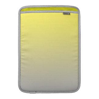 Ombre amarillo y gris fundas para macbook air
