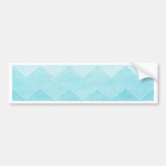 Ombre,aquamarine,girly,chevron,zig zag,pattern,fun car bumper sticker