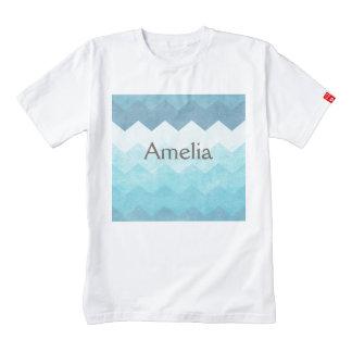 Ombre,aquamarine,girly,chevron,zig zag,pattern,fun zazzle HEART T-Shirt