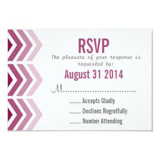 Ombre Arrows Modern Chevron Wedding RSVP Card