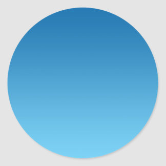 Ombre azul marino pegatina redonda