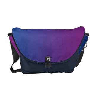 Ombre azul marino y púrpura bolsas de mensajería